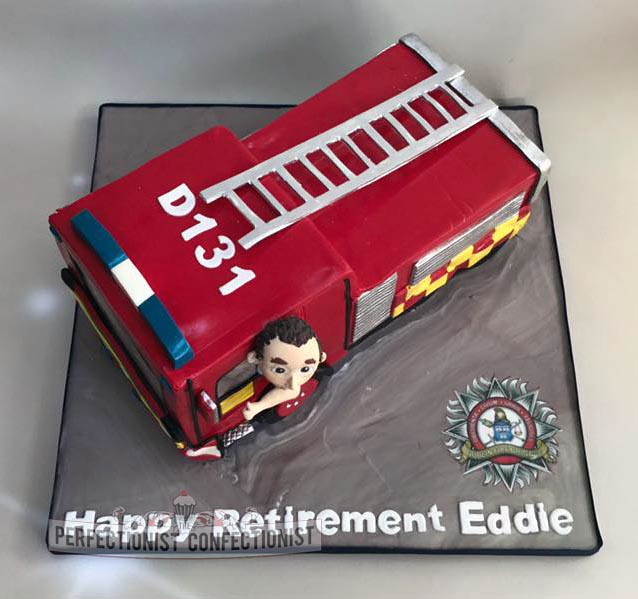 Wondrous Fire Engine Birthday Cake Perfectionistconfectionist Flickr Personalised Birthday Cards Arneslily Jamesorg