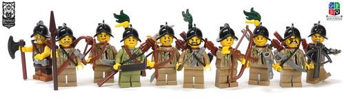 LoR - New Lenfald Jungle Scouts   by Kingdomviewbricks