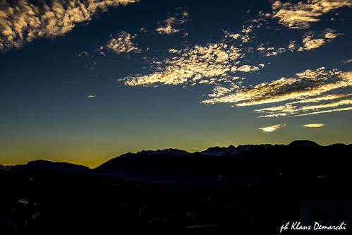 landscape sunset night sun sky clouds nature trentino valdinon