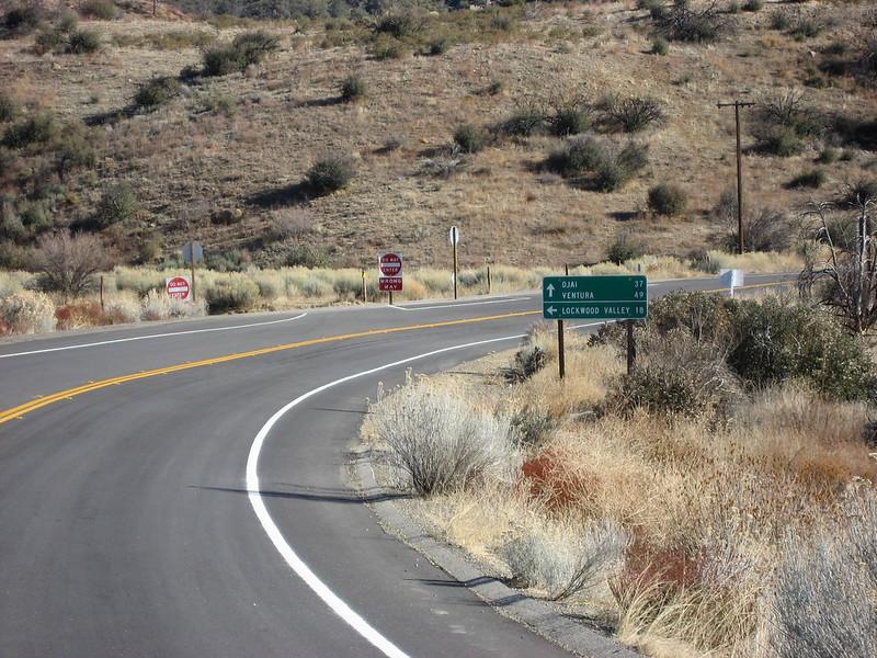 Heading up Highway 33 towards Ojai