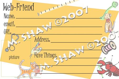 Web-Friend Card