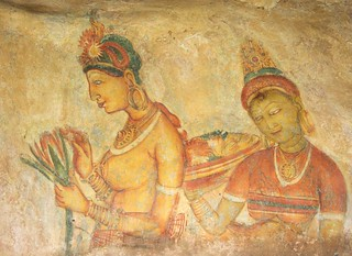 Painting at Rock Fortress of Sigiriya, Sri Lanka | by A.Davey