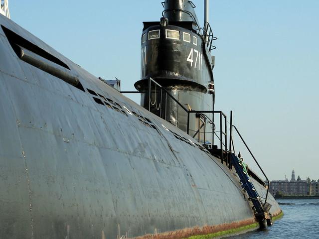 Onderzeeboot op het IJ