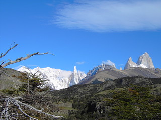 El Chalten in Argentina Patagonia. Climb up the mountains to view Mount Fitz Roy.
