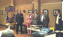 Greg Wallace presides over the new member induction of Steve Ramirez. Steve's wife Neomi and sponsor Scott Tarkenton observe.   The 2016 Winter Assembly included new member Steve Ramirez's induction, Casino Night presentation from Scott Tarkenton, a membership update from Chris Morden and a website update from Mike Wienold.