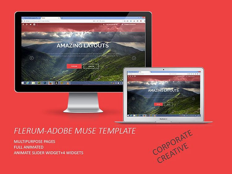 Adobe muse template flerum template | Adobe muse template fl