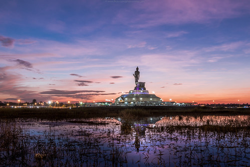 sunset landscape thailand buddha khonkaen esan puttamonton