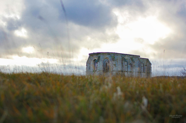 Chapel ruine in the north in France