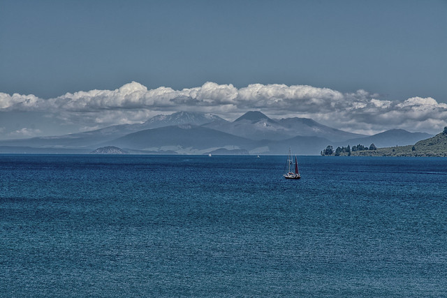 Sailing off into the blue