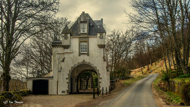 One Of Many Many Gate Houses Of Wealthy Land Owners In Scotland ..
