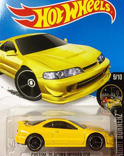 Hot Wheels 2016-89 Custom 2001 Acura Integra GSR (2016 New