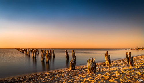 sunset seascape pier shoreline australia goldenhour bellarinepeninsula cliftonsprings cliftonspringspier