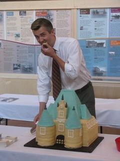 Mayor Ness; Depot celebration cake | by How Sweet It Is Cakes