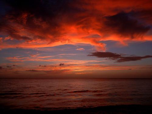ocean sunset sky cloud beach gulfofmexico florida bonitasprings 2015