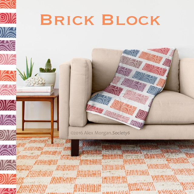 Brick Block.throw blanket