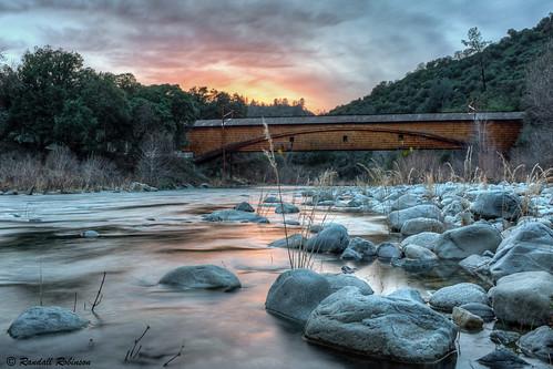 sunset river coveredbridge hdr cloudsbridge