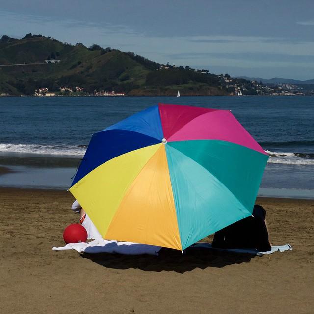 colorful beach umbrella