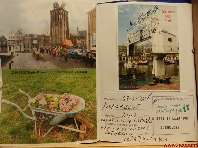2016-03-23 stads en landtocht  Dordrecht            24.3 Km  (147)