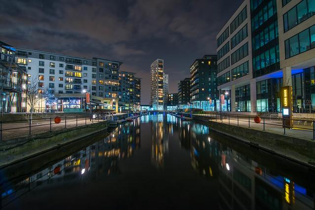 Leeds Dock at night