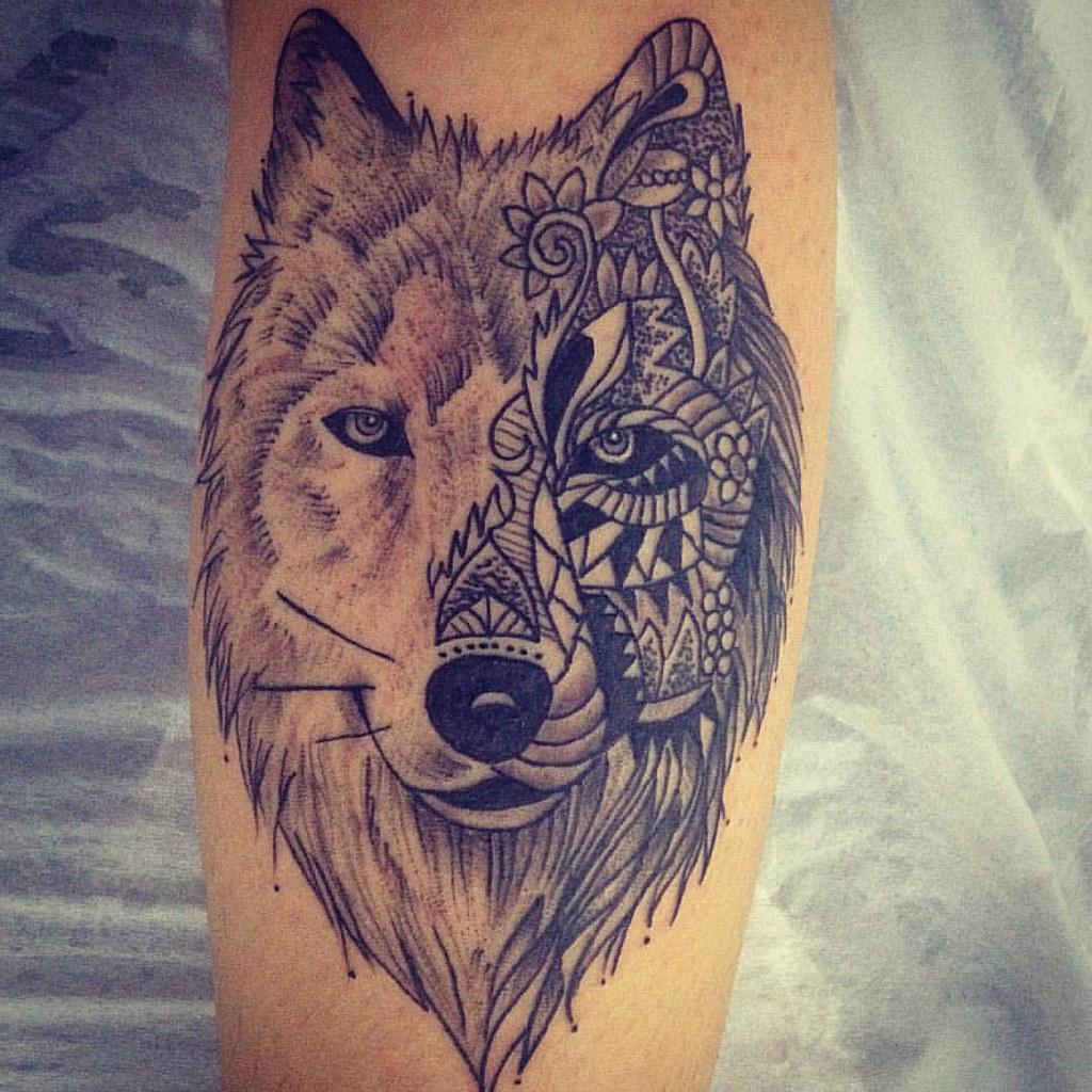 Tattoo lobo. lobo pontilhismo tattoo tatuagem tatuari