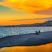 Fishing At Dusk - Nice, France by mikederrico69