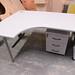 Grey laminate desk radial