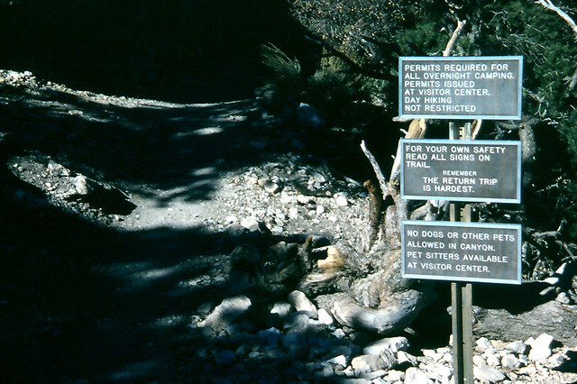 10-Trail warning signs, Grand Canyon National Park