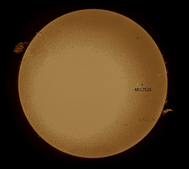 Sun in H-alpha 3pm BST 02/04/16