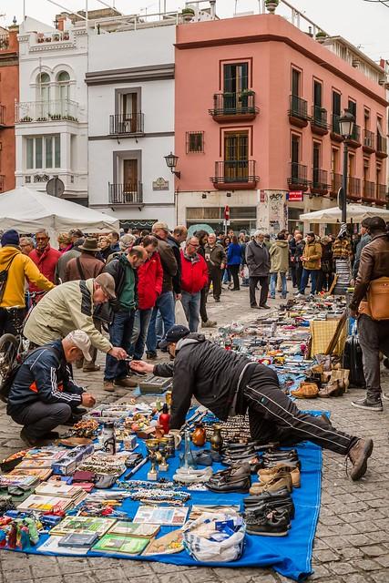 Seville Jan 2016 (10) 216 - Mercadillo de los Jueves- A flea market on Calle Feria every Thursday