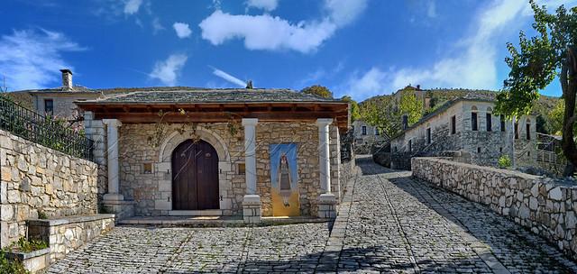 Παραδοσιακός οικισμός Δολό Πωγωνίου Traditional settlement Dolo Pogoni Panorama