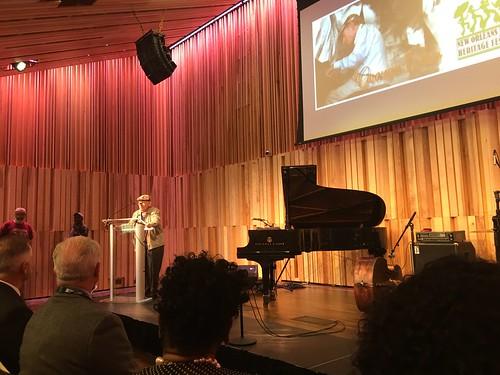 George Wein speaking at the Jazz & Heritage Center on 4/21/16