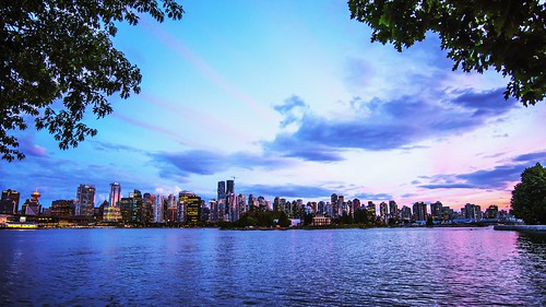 city longexposure nightphotography travel sunset sky urban canada vancouver clouds nikon cityscape colours britishcolumbia citylife stanleypark d610