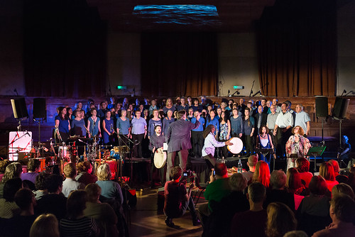Cecil Sharp House Choir performing at Within the Waves, Cecil Sharp House, November 2015, photographer Emile Holba