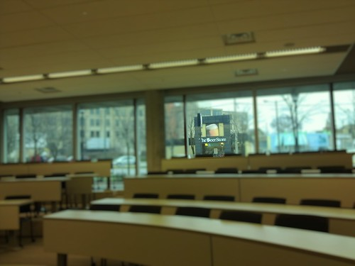 Beer Store; Nice View From a Classroom