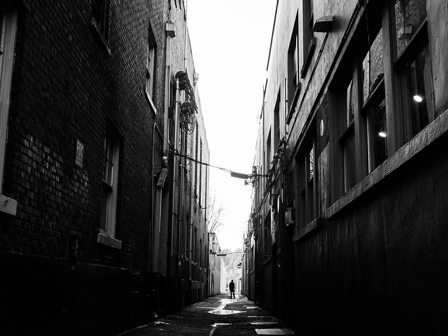 Light at the end of the alley