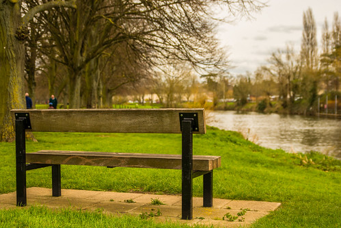 uk trees england blur water river bench landscape spring nikon dof outdoor depthoffield serene worcestershire riverbank riveravon 2016 evesham d7100 tamron2470f28vc