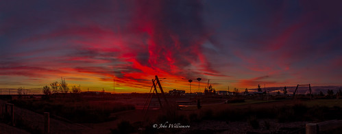 blue red panorama orange playground clouds sunrise outdoor australia adelaide southaustralia flyingfox