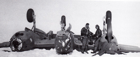The Glacier Girl p-38 en la nieve