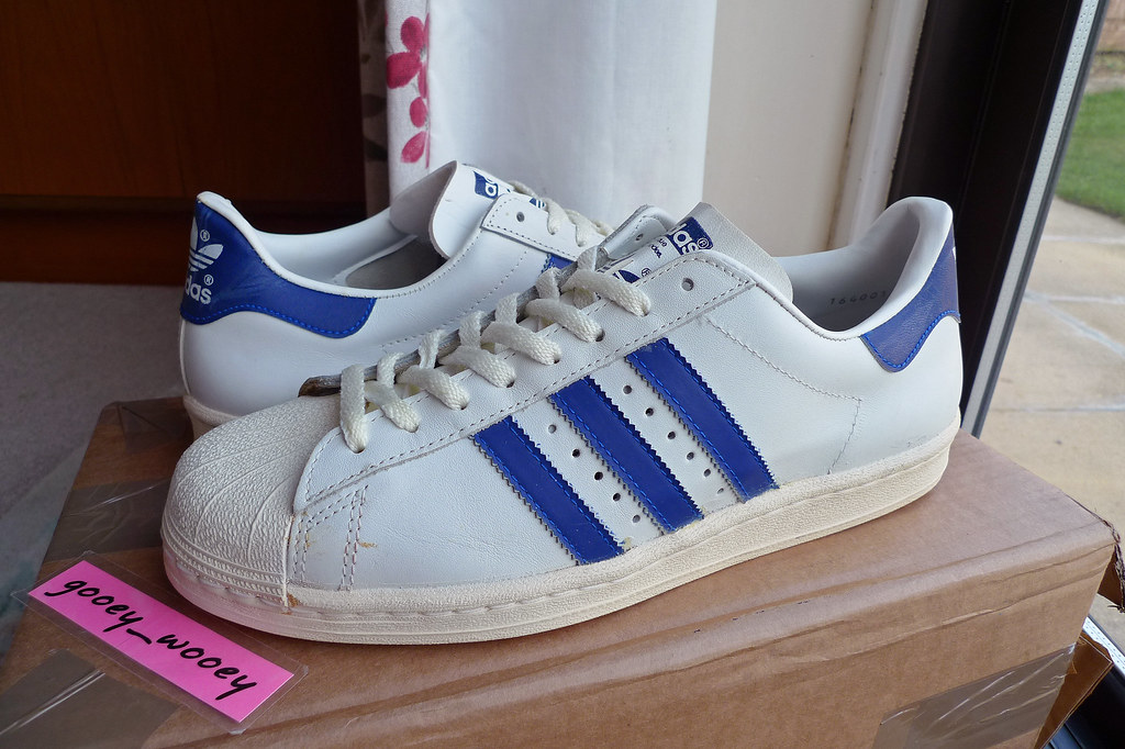 outlet store 1b0bf f5552 Adidas Superstar - White / Blue Made In France. | Almost my ...