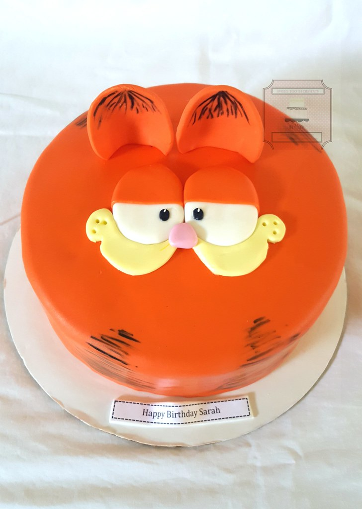 Fine Garfield Birthday Cake 10In Garfield Birthday Cake Vanill Flickr Personalised Birthday Cards Veneteletsinfo