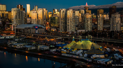 street reflection vancouver sunrise buildings tents nikon streetlight streetlamp streetscene viaduct d750 cropped constructioncranes vignetting vancouverbc cirquedusoleil sunreflection waterreflection cityofvancouver vancouvercity rogersarena cans2s tedsphotos nikonfx nikond750