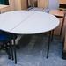 Grey laminate oval desk