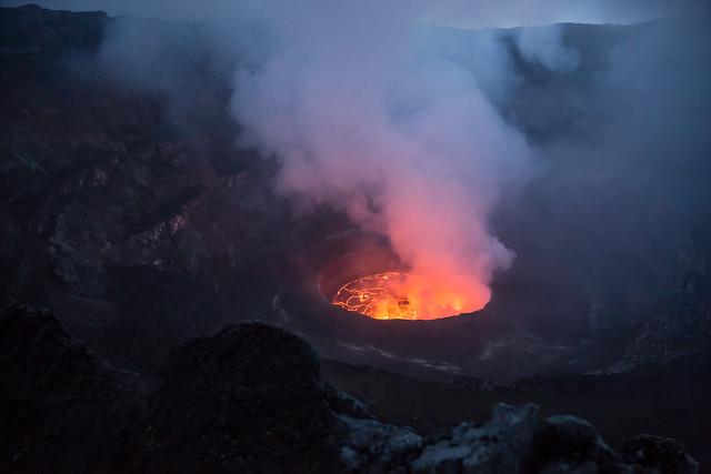 Nyiragongo Volcano in Virunga National Park, in eastern DRC