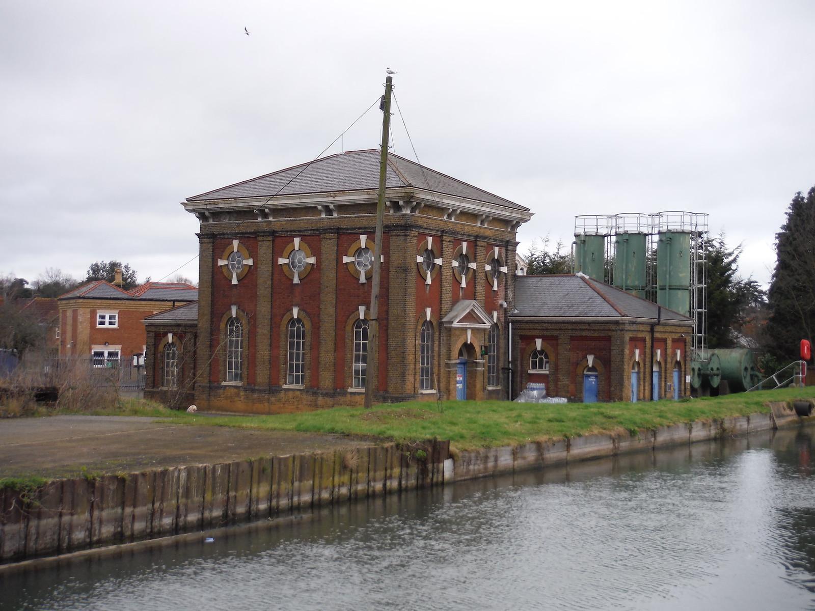 Broxbourne Pumping Station on The New River SWC Walk 168 Broxbourne Circular