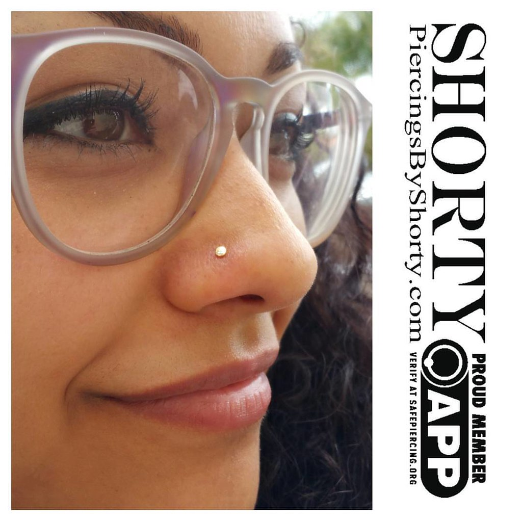 Here S A Fresh Nostril Piercing I Did Recently Using An 18 Flickr