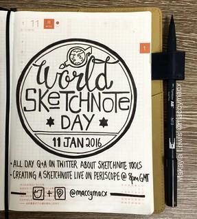 Happy World Sketchnote Day #SNDay2016.