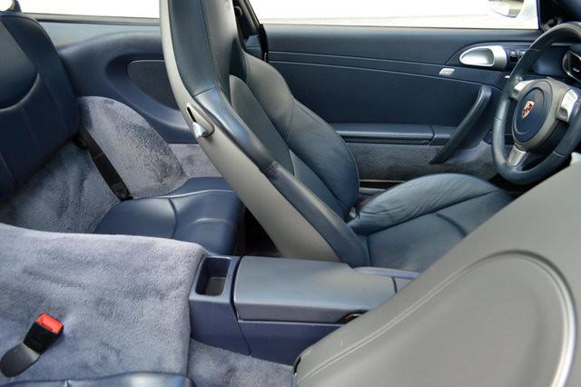 2008 Porsche 997 C4S White Blue Targa Tip Coupe Vertexauto.com Interior 10
