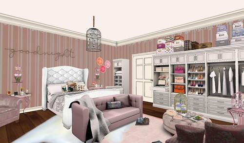 Goodnight Bedroom w/closet (H&G Expo 2016) | by Hidden Gems in Second Life (Interior Designer)