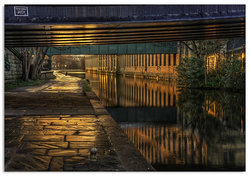 bridge reflection water sunrise canal yorkshire ngc saltaire saltsmill leedsliverpoolcanal d600 nikkor1635mmf4 nikonfxshowcase