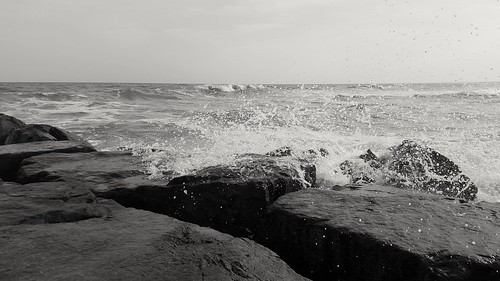 ocean travel sea blackandwhite bw beach water monochrome photography newjersey rocks waves samsung splash oceancity crashing photooftheday ocnj skancheli samsungs6 saltydogphoto